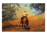 Cowboy with Bird & Tree Shades