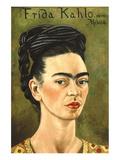 Portrait with Gold Dress Reproduction d'art par Frida Kahlo