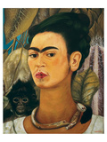Portrait with Monkey1938 Reproduction d'art par Frida Kahlo
