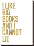 I Like Big Books Golden White
