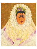 Portrait As Tehuana 1943 Reproduction d'art par Frida Kahlo