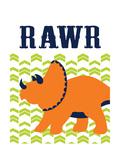 Dino Rawr Reproduction d'art par Tamara Robinson