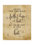 Faith Hope and Love Vintage