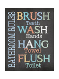 Brush Wash Flush Reproduction d'art par Jo Moulton