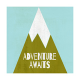 Adventure Awaits - Silouhette Typography