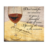 Wine Is the Occasion