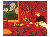 La Chambre rouge Reproduction d'art par Henri Matisse