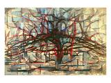 the Gray Tree 1912 Reproduction d'art par Piet Mondrian