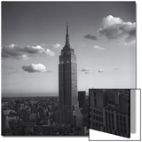 Empire State Building White Clouds - New York City Iconic Building  Top View