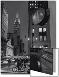 Chrysler Building  Clock  Bicycle - New York City  Landmarks at Night