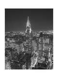 Chrysler Building at Night  East View - New York City Iconic Building  Top View