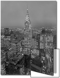 Chrysler Building at Dusk  East View - New York City Iconic Building  Top View
