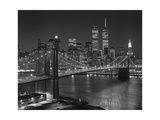 Top View Brooklyn Bridge - New York City Icons Reproduction d'art par Henri Silberman