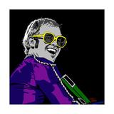 Elton John Reproduction d'art par Emily Gray