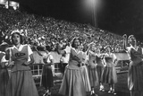 Cheer Leaders at Little Rock High School Game with Louisiana High School Team