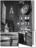 Chrysler Building  Clock  Bus - New York City  Landmarks at Night