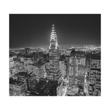 Chrysler Building at Night  East View 2 - New York City Iconic Building  Top View