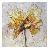 Yellow Poppy on White 2