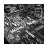 Times Square Fromm Above  Buses - New York City Landmarks