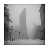 Flat Iron Building  Blizzard - New York City Iconic Building