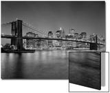 Brooklyn Bridge at Night 2 - New York City Skyline at Night Acrylique par Henri Silberman
