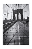 On the Brooklyn Bridge  Shadows - New York City Icon