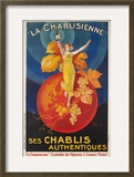 La Chablisienne  Ses Chablis Authentiques  French Wine Poster
