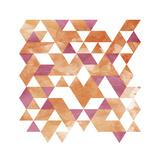 Blush Coral Triangles