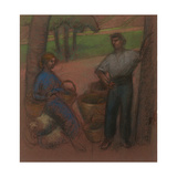 Peasant Couple with Apple-Trees