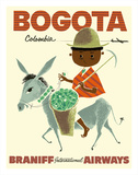 Bogota  Columbia - Braniff International Airways - Andes Boy with Colombian Emeralds