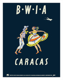 Caracas  Venezuela - British West Indies Airways BWIA