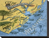 Charleston  South Carolina Beach Map