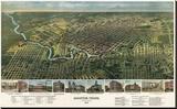 Bird's Eye Map of Houston  Texas  1891