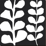 Maidenhair (white on black)