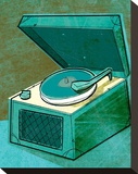 Old School Record Player in Aqua