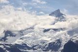 Snow Capped Mountain in the Glacier Bay National Park  Alaska
