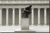 Rodin's Thinker in Profile