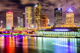 Tampa  Florida  USA Downtown City Skyline on the Hillsborough River