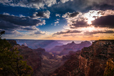 Grand Canyon North Rim Cape Royal Overlook at Sunset Papier Photo par Kris Wiktor