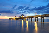 Pier at Sunset in Naples  Florida