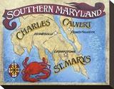 Southern Maryland Beach Map