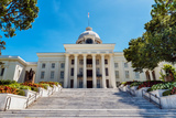 Front View of State Capitol in Montgomery  Alabama