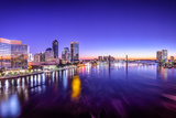 Jacksonville  Florida  USA City Skyline Panorama on St Johns River at Dawn