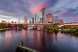 Tampa  Florida  USA Downtown City Skyline over the Hillsborough River