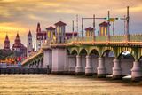 St Augustine  Florida  USA City Skyline and Bridge of Lions