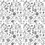 Handmade Doodles Objects and Icons Seamless Pattern