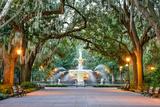 Savannah  Georgia  USA at Forsyth Park Fountain