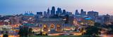 Kansas City Skyline Panorama. Papier Photo par Rudi1976