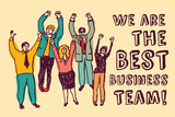 Best Business Team Happy Workers Color