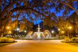Savannah  Georgia  USA at Forsyth Park